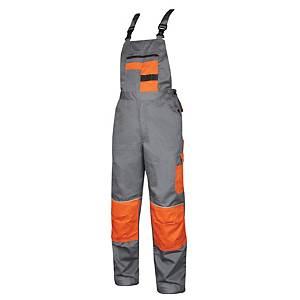 ARDON 2Strong dungarees, grey/orange, size 50