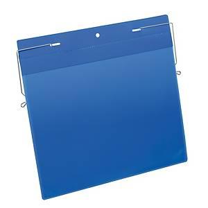 Tasca per identificazione con fissaggio in filo metallico Durable A4 - conf. 50
