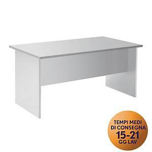 Scrivania TDM linea Open L 140 x P 80 x H 73 cm bianco