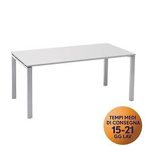 Scrivania in metallo TDM linea Open L 180 x P 80 x H 73 cm bianco