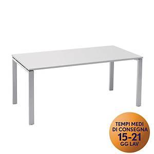 Scrivania in metallo TDM linea Open L 160 x P 80 x H 73 cm bianco