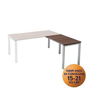 Allungo per scrivania in metallo TDM linea Open L 100 x P 60 x H 73 cm bianco