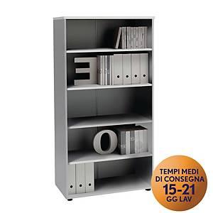 Armadio alto libreria TDM linea Open L 90 x P 48 x H 128 cm bianco