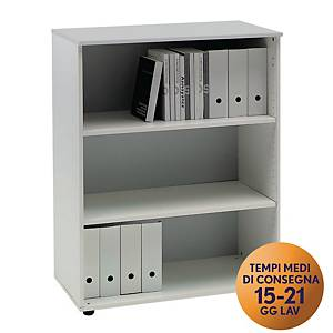 Armadio medio libreria TDM linea Open L 90 x P 48 x H 128 cm bianco