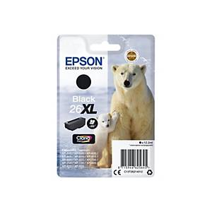 EPSON 26XL inkjet cartridge black high capacity 12.2ml [500 pages]