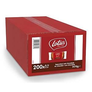 Lotus speculoos met chocolade, doos van 200 koekjes