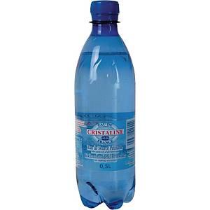Eau pétillante Cristaline, le paquet de 24 bouteilles de 0,5 l