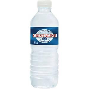 Eau plate Cristaline, le paquet de 24 bouteilles de 0,5 l