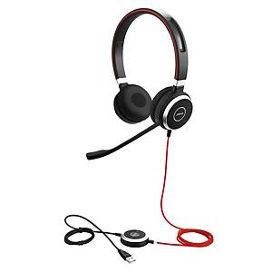 Jabra Evolve 40 MS stereo USB headset, zwart