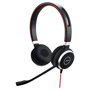 Jabra Evolve 40 MS telefonos headset, USB/3.5 mm jack, NC