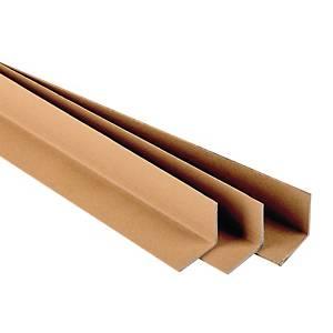 Pallethoeken in bruin karton, 35 mm x 120 cm, pak van 25 beschermhoeken
