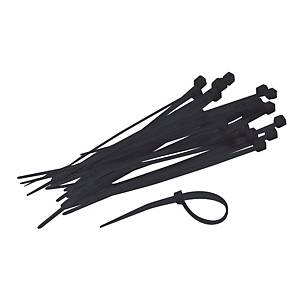 Serre flex, l 4,8 x L 300 mm, noir, les 250 colliers de câblage