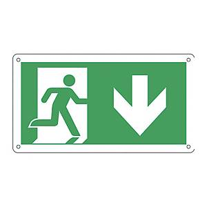 Cartello segnaletico di emergenza orizzontale   USCITA DI EMERGENZA SUD