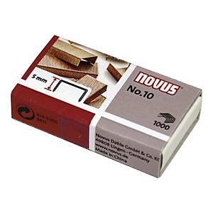 Zszywki miedziane NOVUS Nr 10, w opakowaniu 1000 sztuk