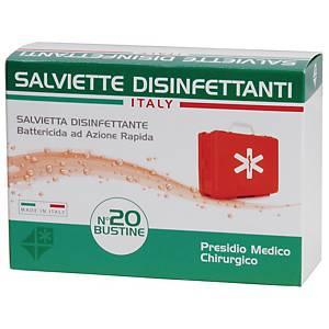 Salviettine disinfettanti battericide azione rapida - conf. 20