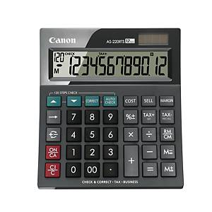 CANON AS220RTS DESKTOP CALCULATOR 12 DIGIT BLACK