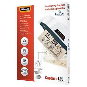 Fellowes Laminierfolie ImageLast A3, 2x125 Mikron, glanz, Packung à 100 Stück