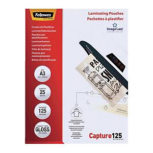 Fellowes Gloss A3 Laminating Pouch 250mi - Pack of 100