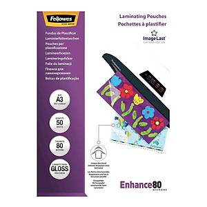 Fellowes Gloss A3 Laminating Pouches 160mi - Pack of 100