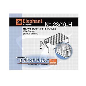 ตราช้าง ลวดเย็บกระดาษ ไททาเนีย 23/10-H 1000 ลวด/กล่อง
