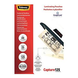 Fellowes Gloss A4 Laminating Pouch 250mi - Pack of 100