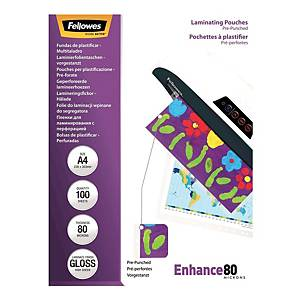 Fellowes Gloss A4 Laminating Pouch 160mi - Pack of 100