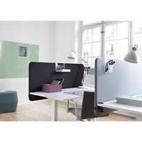 Skärmvägg Abstracta Softline 30 bord, 80 x 65 x 3 cm, grå