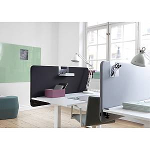 Skærmvæg Abstracta Softline 30 bord, 120 x 65 x 3 cm, sort