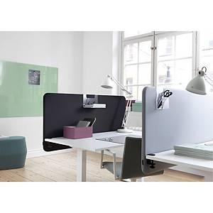 Skærmvæg Abstracta Softline 30 bord, 180 x 65 x 3 cm, sort