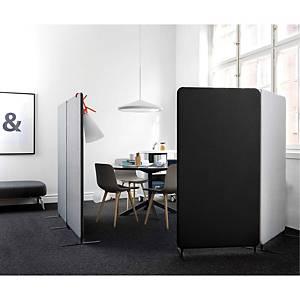 Skærmvæg Abstracta Softline 30 gulv, 80 x 150 x 3 cm, sort