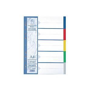 Premier PP 5 Tab Colour Divider