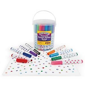 Colorations stempelstiften, 20 kleuren, 7 motieven, pak van 44 stiften