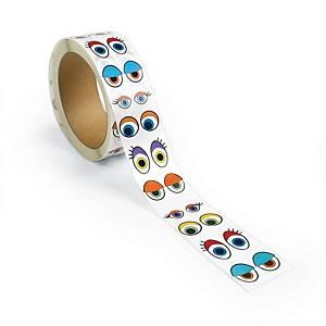 Colorations yeux stickers coloriés 1000 paires