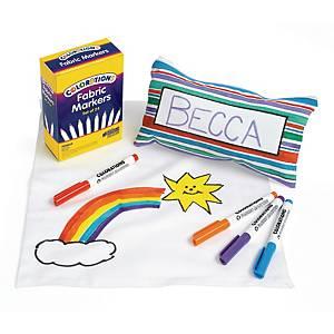 Colorations textielstiften, assorti kleuren, pak van 24 stiften