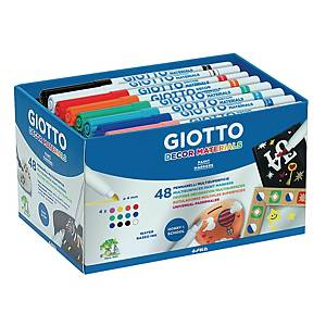Giotto Decor markers, assorti kleuren, per 48 paint markers
