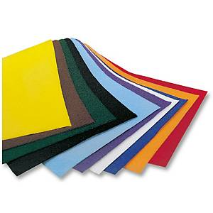 Folia papier velours 50 x 70 cm couleurs assorties - le paquet de 10