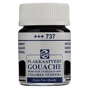 Talens gouache extra fin - noir  - 16 ml