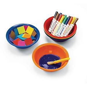 Colorations bol à peinture 18cm diamètre couleurs assorties - le paquet de 6