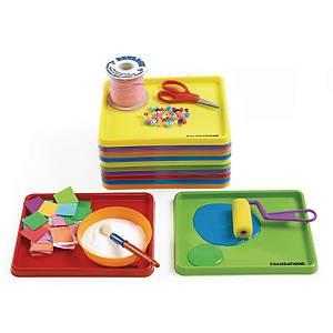 Colorations plateau 24 x 20,50 cm couleurs assorties - le paquet de 12