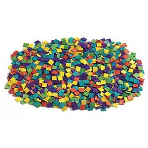 Colorations houten mozaïek, assorti kleuren, pak van 1.000 stukjes