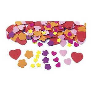Pack de 150 corazones y flores de goma eva Colorations - surtido