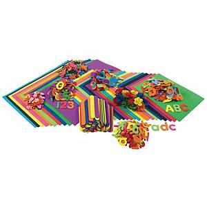 Colorations feuilles et figures en caoutchouc - le paquet de 914