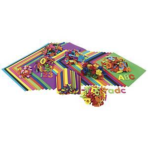 Pack de 914 figuras de goma eva Colorations de diferentes formas y colores