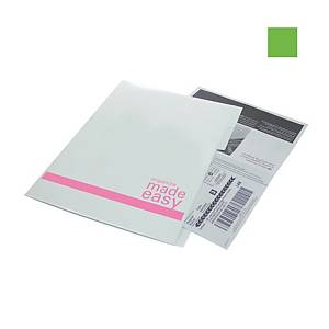 Bantex PP Index White Green A4 L Shape Folder With Dividers