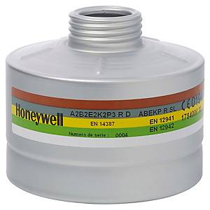 Filtre A2B2E2K2P3 pour masque complet Honeywell Panoramasque RD40