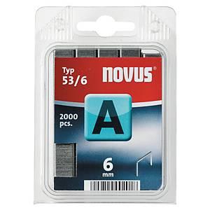 Agrafes Novus 53/6, 20 feuilles, les 2.000 agrafes