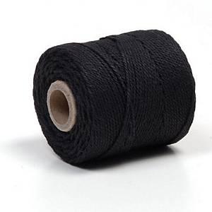 Macrame/coton cord 90m black