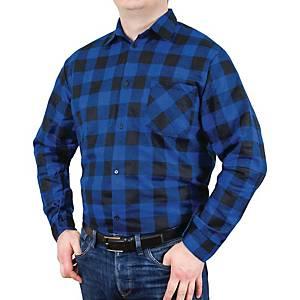 Koszula flanelowa, niebieska, rozmiar XXL