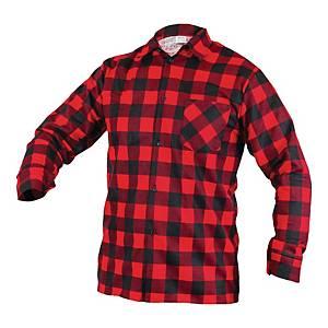 Koszula flanelowa, czerwona, rozmiar L
