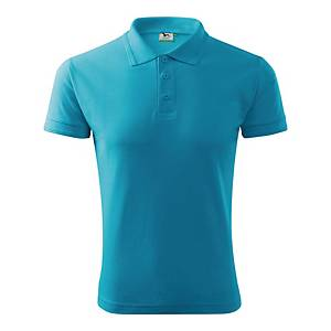 Koszulka polo MALFINI PIQUE, turkusowa, rozmiar M